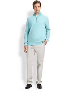 Saks Fifth Avenue Men's Collection - Birdseye Half-Zip Cashmere Sweater