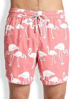 Vilebrequin - Moorea Flamingo Swim Trunks
