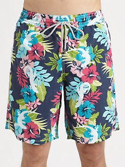 Vilebrequin - Floral Print Swim Trunks