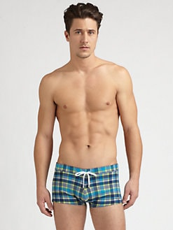 2XIST - Summer Plaid Cabo Swim Briefs