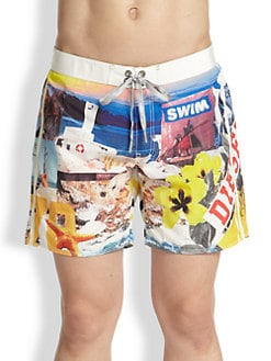 Diesel - Mark Photo Swim Trunks