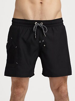 Diesel - Solid Logo Swim Trunks