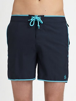 Original Penguin - Volley Swim Trunks/Solid with Piping