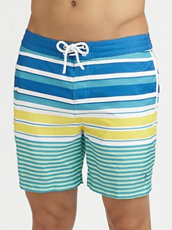 Penguin - Volley Swim Trunks/Printed Stripes