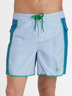 Penguin - Volley Swim Trunks/Mini-Stripe
