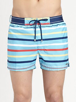 2XIST - Graduated Stripe Swim Trunks
