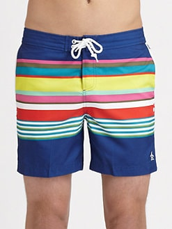 Original Penguin - Volley Striped Swim Trunks