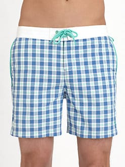 Original Penguin - Volley Plaid Swim Trunks