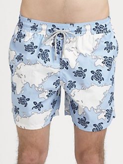 Vilebrequin - Turtle Map Swim Trunks