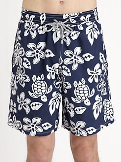 Vilebrequin - Florals & Turtles Swim Trunks