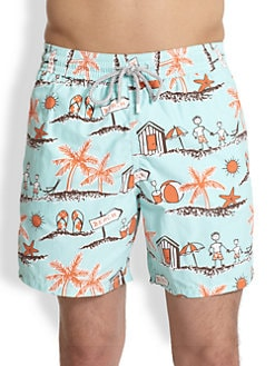 Vilebrequin - Father/Son Print Swim Trunks