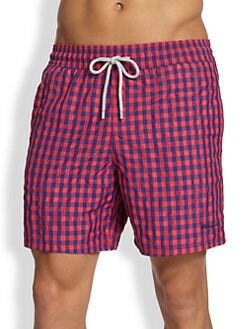 Vilebrequin - Morio Gingham Swim Trunks