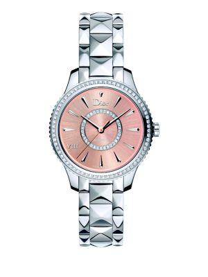Dior VIII Montaigne Diamond & Two-Tone Stainless Steel Automatic Bracelet Watch