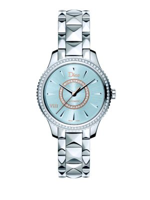 Dior VIII Montaigne Diamond, Mother-Of-Pearl & Two-Tone Stainless Steel Automatic Bracelet Watch