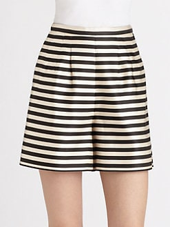 Jil Sander Navy - Silk Striped Shorts