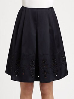 Jil Sander Navy - Silk Skirt