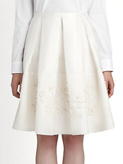 Jil Sander Navy - Beaded Gazar Skirt