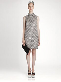 Jil Sander Navy - Printed Silk Dress