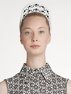 Jil Sander Navy - Embroidered Leather Headband