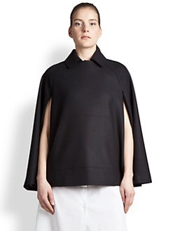 Jil Sander Navy - Wool Cape