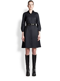 Jil Sander Navy - Stretch Wool Shirtdress