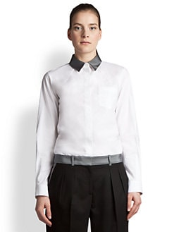 Jil Sander Navy - Contrast Collar Blouse
