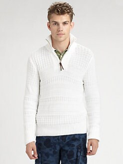 Gant by Michael Bastian - Knitted Half-Zip Sweater