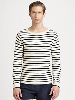 Gant Rugger - Breton Split Striped Sweater