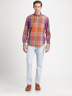 Gant Rugger - Hand-Loomed Madras Plaid Sportshirt