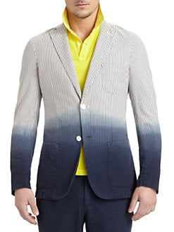 Gant by Michael Bastian - Dip-Dyed Seersucker Blazer