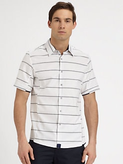 NUMBER:Lab - Striped Woven Sportshirt