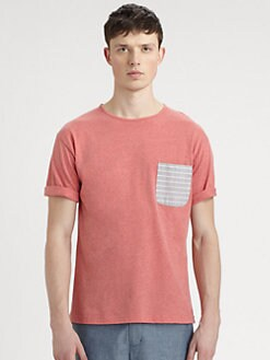 Bespoken - Striped Pocket Cotton Tee