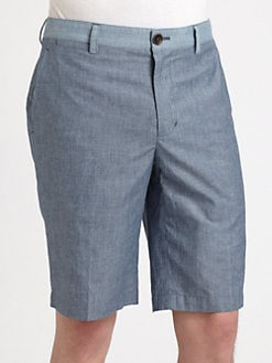 Bespoken - Cotton Chambray Shorts