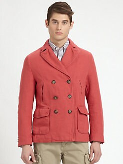 Gant by Michael Bastian - Overdyed Canvas Peacoat