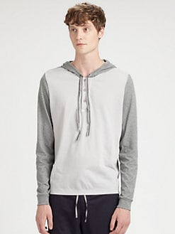 NUMBER:Lab - Hooded Henley Tee