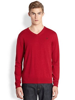 Fred Perry - Classic Tipped V-Neck Sweater