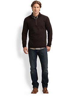 Robert Graham - Berkeley Merino Zip Mockneck Sweater
