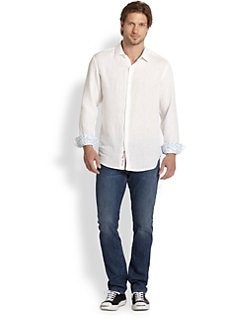 Robert Graham - Embroidered Linen Shirt