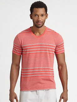 Splendid Mills - Striped V-Neck Tee
