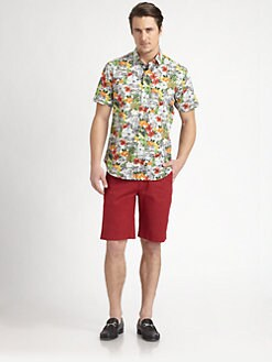Robert Graham - Shuttlecock Tropical-Print Cotton Shirt