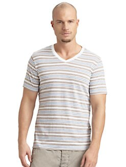 Splendid Mills - Charlie Striped V-Neck Tee