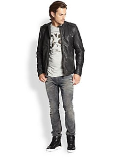 Diesel - Leprandis Leather Biker Jacket