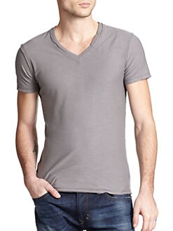 Diesel - Slubbed V-Neck Tee