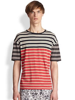 Marc by Marc Jacobs - Bailey Stripe Cotton Tee