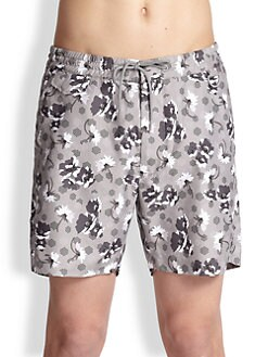 Marc by Marc Jacobs - Brennan Floral Swim Trunks