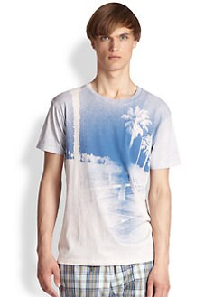 Marc by Marc Jacobs - Boardwalk-Print Cotton Tee
