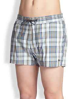 Marc by Marc Jacobs - Aaron Plaid Swim Trunks