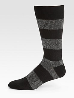 Marc by Marc Jacobs - Striped Lurex Socks