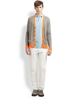 Marc by Marc Jacobs - Silk, Cotton & Cashmere Contrast-Trimmed Cardigan