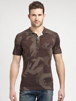 Diesel - Cotton-Blend Camo Print Polo